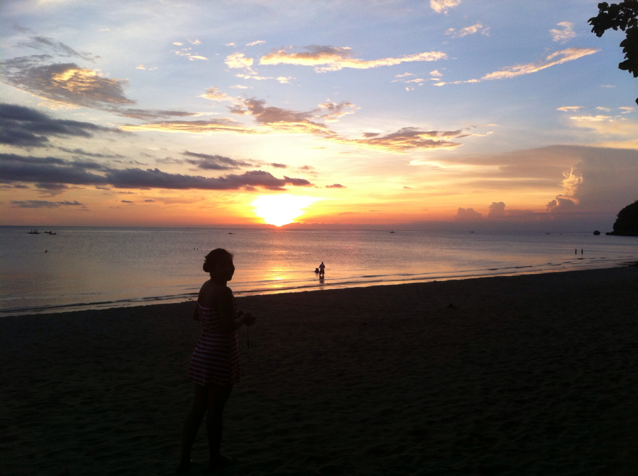 Zabrina Silhouette against Sugar Beach Sunset