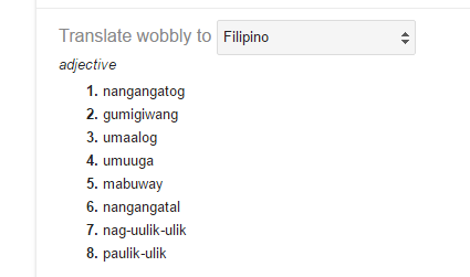 filipino wobbly