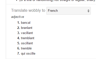 wobbly french