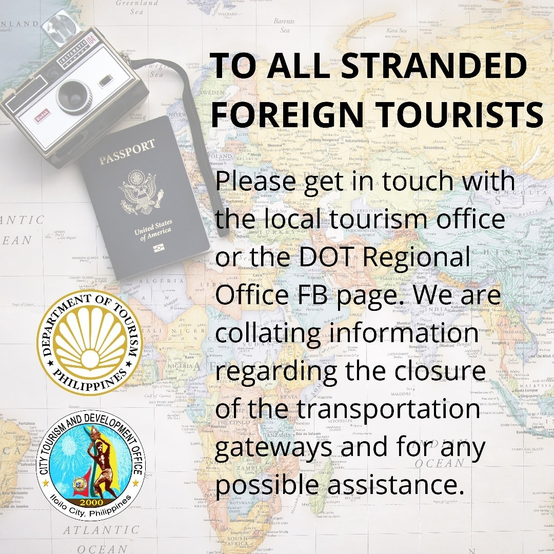 stranded foreign tourists